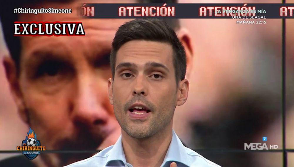 """Borja Mazarro: """"Simeone está convencido de que el Real Madrid ganará el derbi"""""""