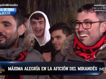 """Máxima alegría en la afición del CD Mirandés: """"Podemos con cualquiera"""""""