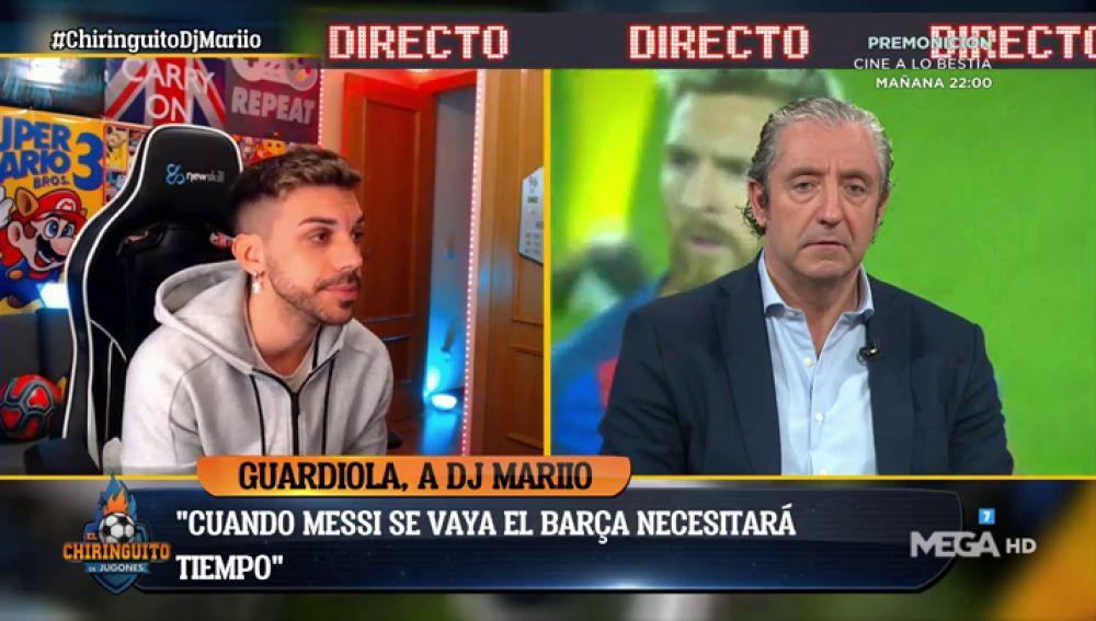 El youtuber DjMariio comenta su entrevista a Pep Guardiola en El Chiringuito