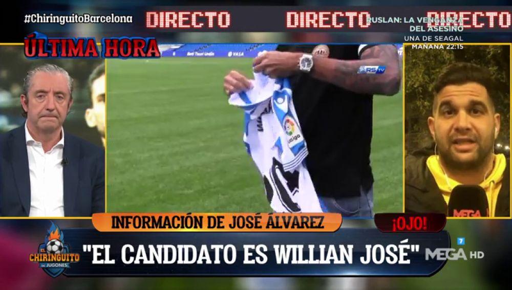 """José Álvarez: """"Willian José es el candidato número uno para el Barça"""""""