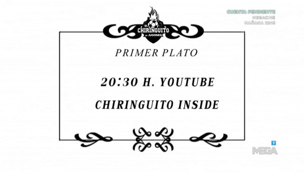 No te pierdas el menú de este domingo de El Chiringuito