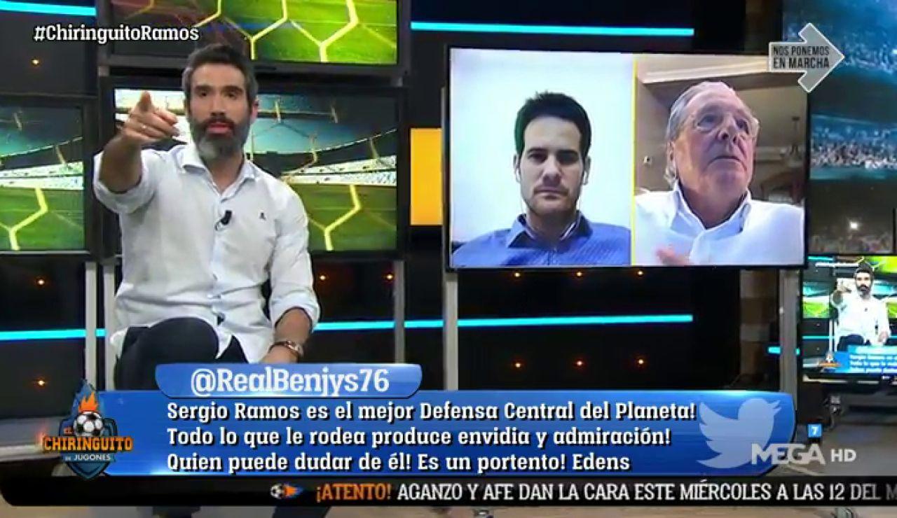 """FERNANDO SANZ: """"HAY QUE QUITARSE EL SOMBRERO CON RAMOS"""""""