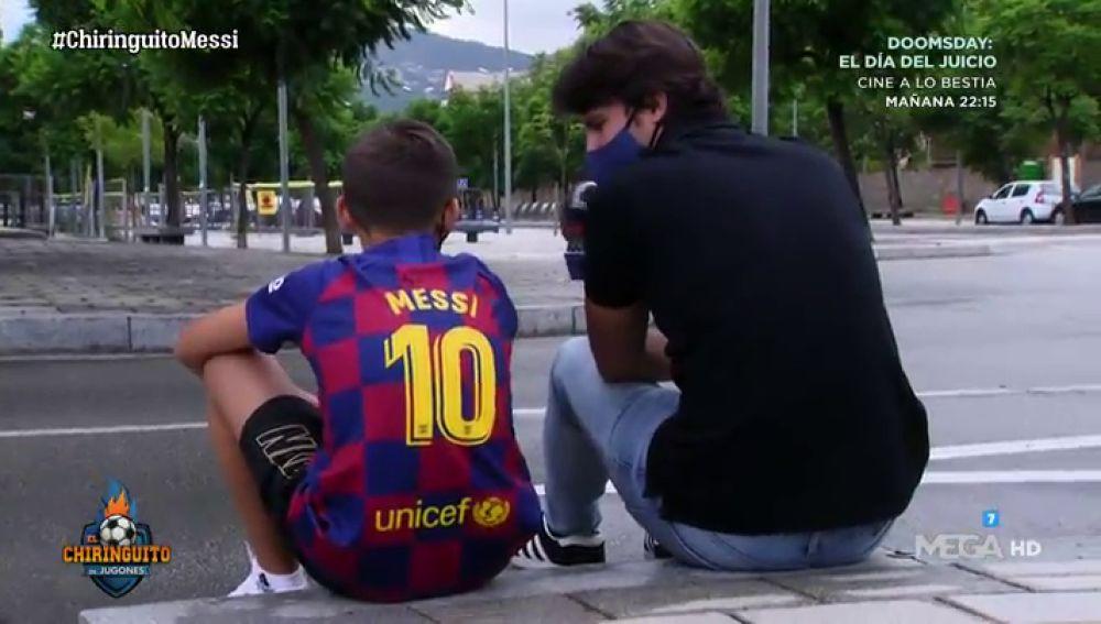 """KEVIN, niño seguir del Barça: """"Me enteré de que Messi se quedaba por El Chiringuito"""""""