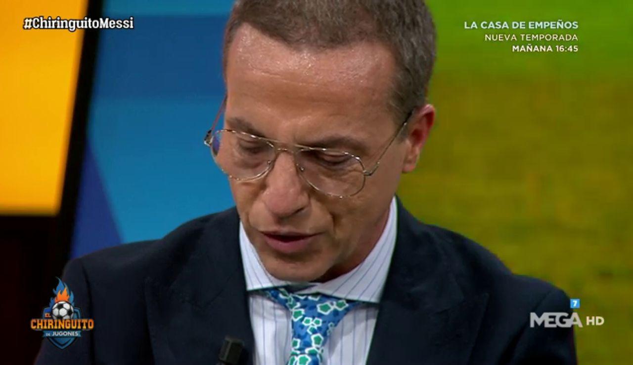 Cristóbal Soria rompe a llorar por el homenaje de Messi