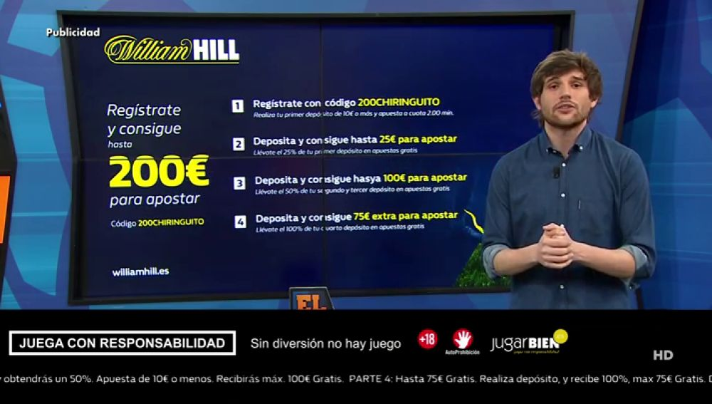 Richi Burgos te trae la mejor oferta de registro para que apuestes con William Hill