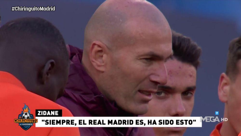 """ZIDANE: """"DISFRUTAD CON EL BALÓN, SOIS EL REAL MADRID"""""""