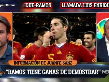 """Juanfe Sanz: """"Sergio Ramos quiere demostrar que no es su fin"""""""