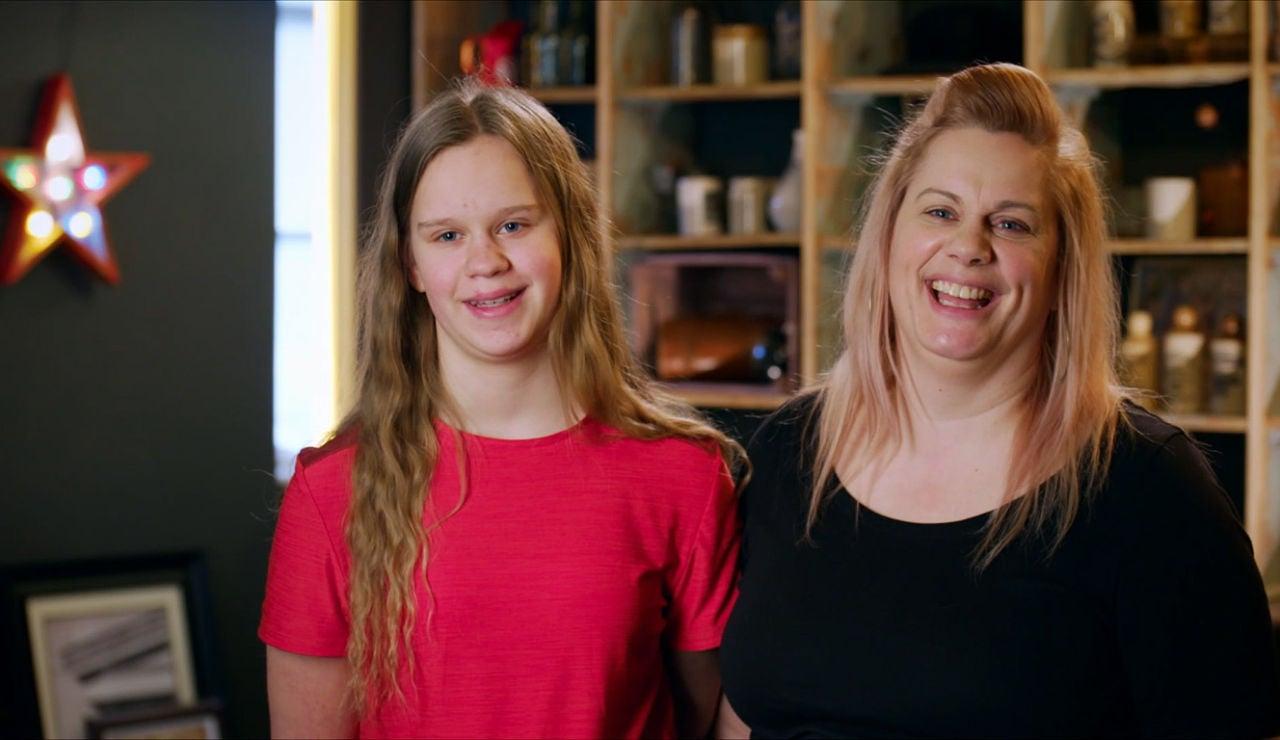 La alegría de Stephanie y su hija